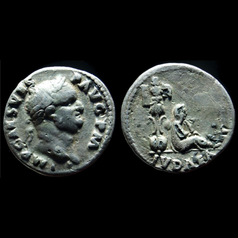 monnaie antique romaine vespasien denier fourre