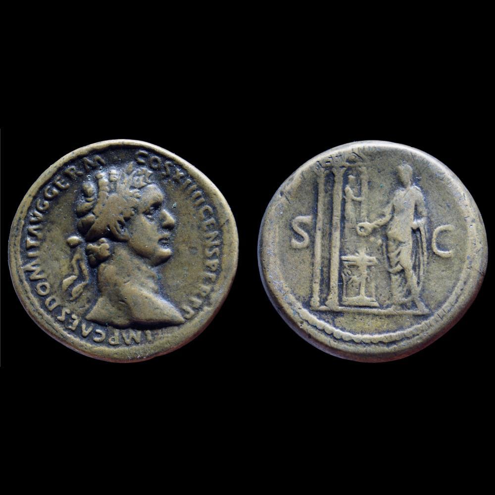 monnaie antique romaine domitien sesterce faux