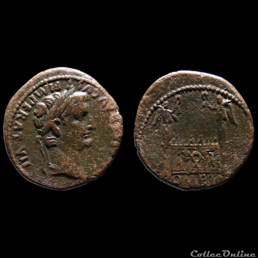 monnaie antique romaine tibere as