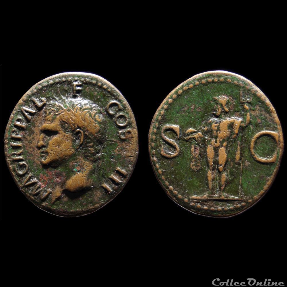 monnaie antique romaine agrippa as