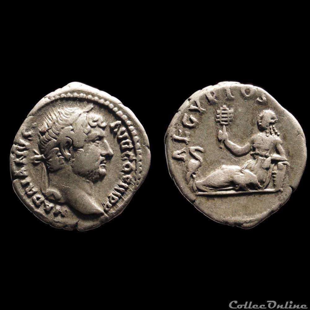 monnaie antique romaine hadrien denier