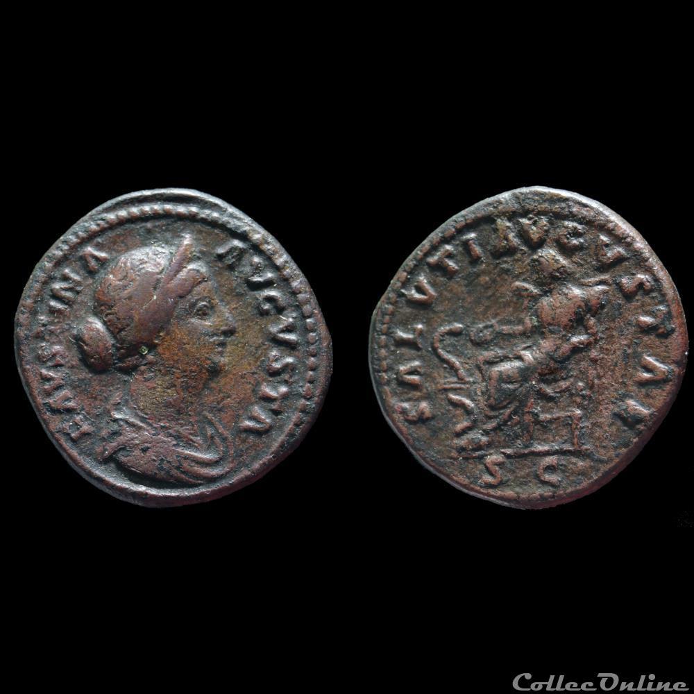 monnaie antique romaine faustine jeune dupondius