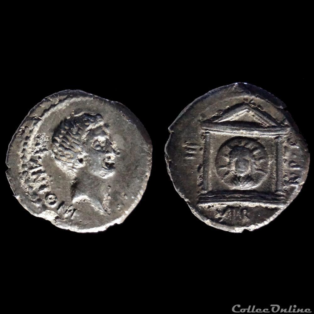 monnaie antique romaine marc antoine denier