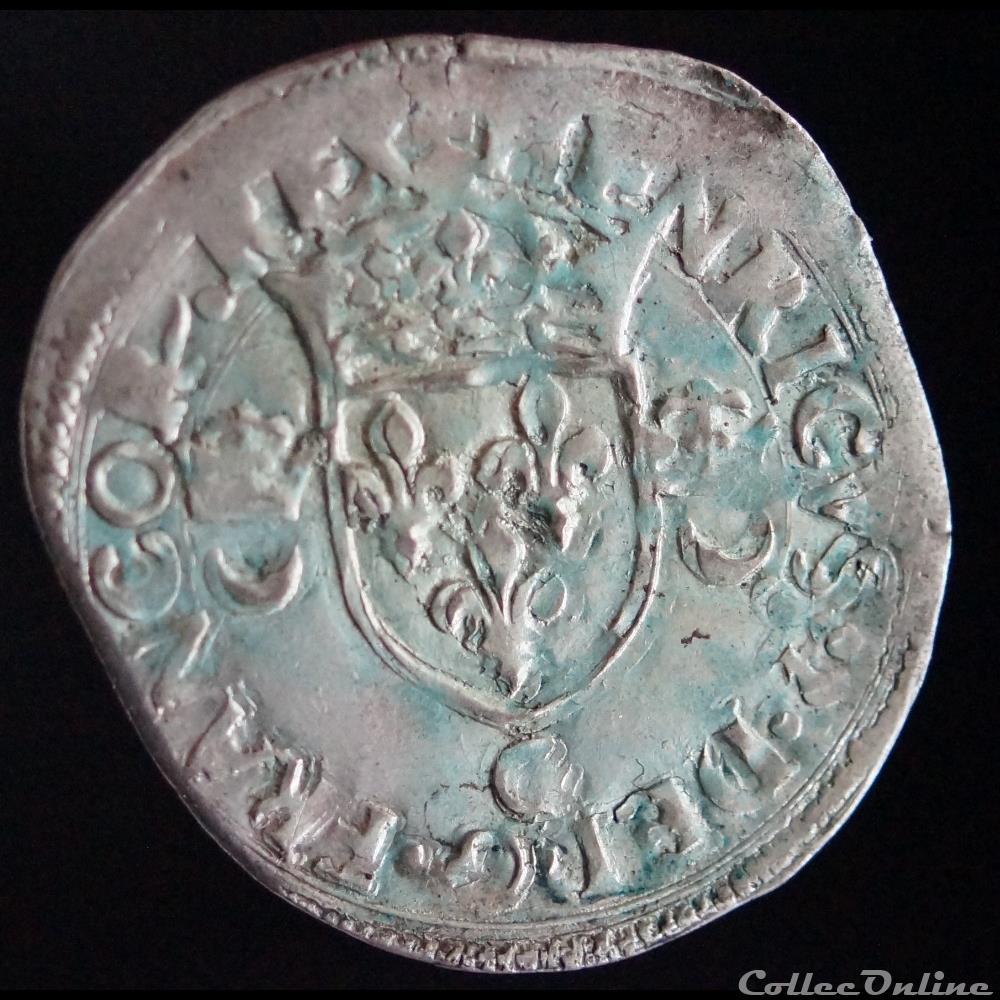 monnaie france royale henri ii douzain aux croissants