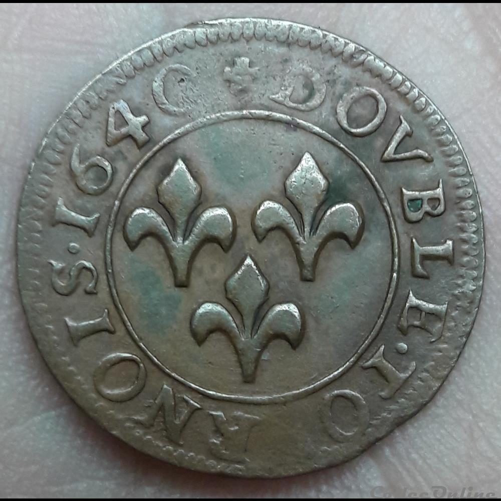 monnaie frederic henri de nassau 1625 1647 double tournois