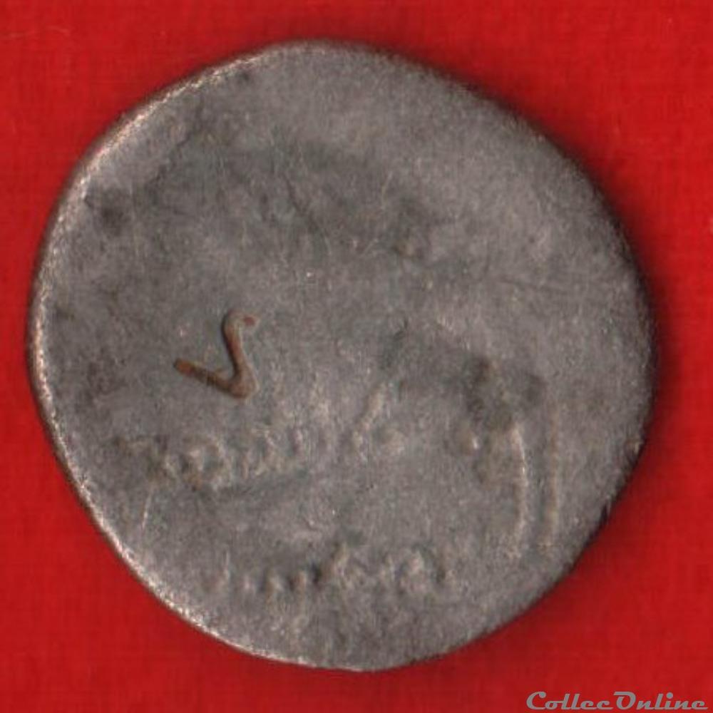 monnaie antique romaine denier de xxeme legion sous marc antoine