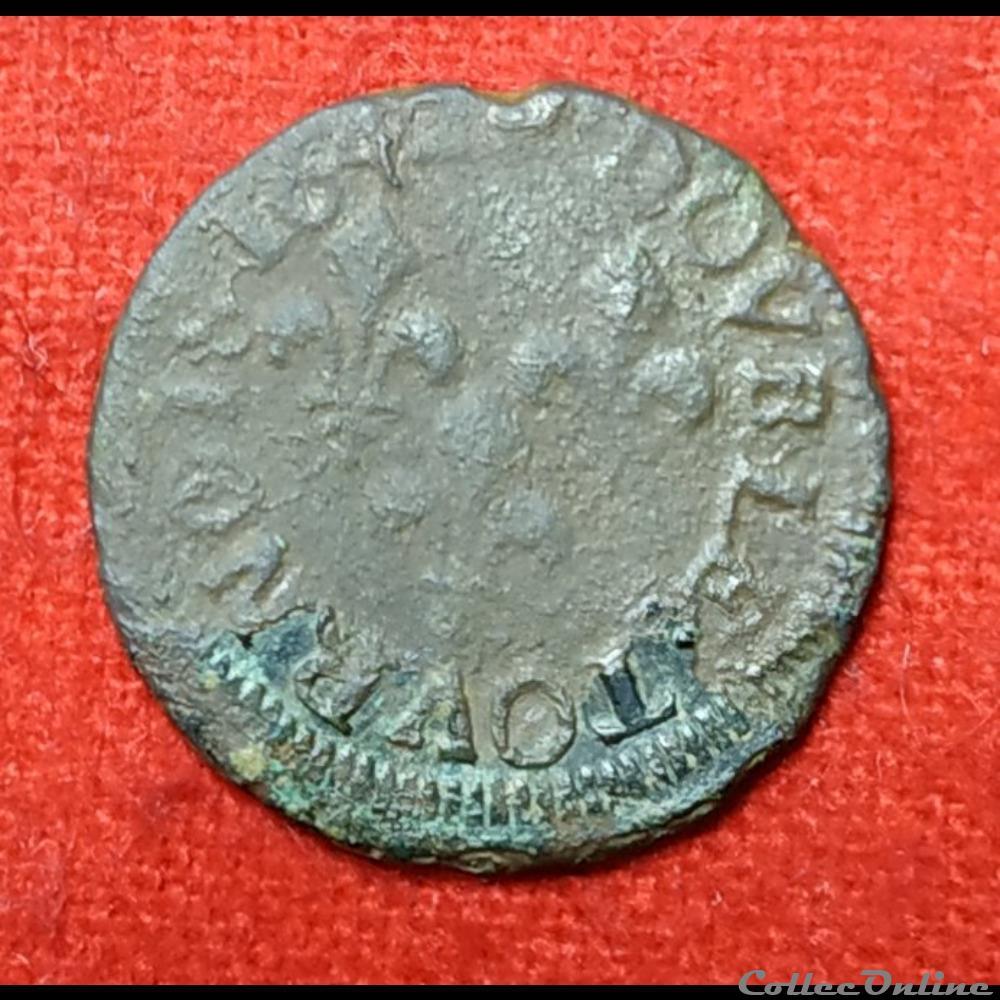 monnaie france royale louis xiii double tournois 164