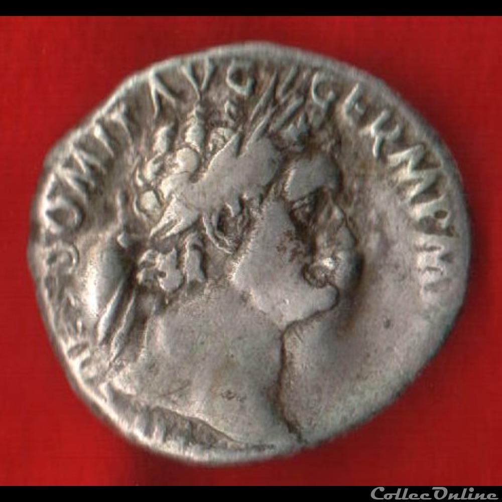 monnaie antique romaine denier de domitien athena ou minerve ou pallas