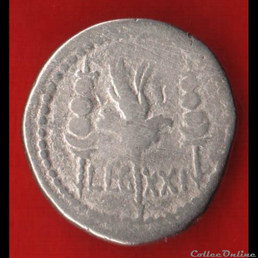 monnaie antique romaine denier de xxieme legion sous marc antoine
