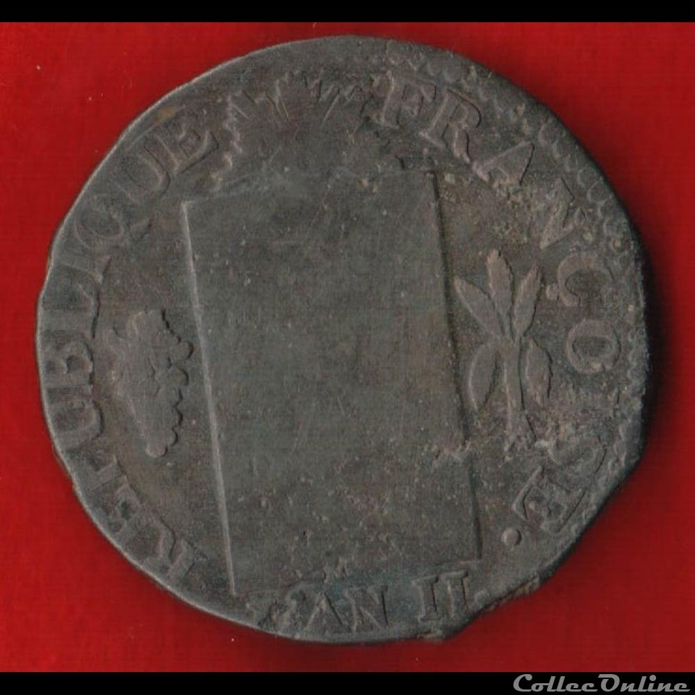 monnaie france moderne la convention 1 sol 1793 dijon
