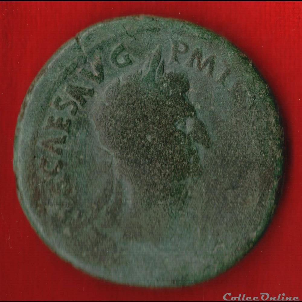 monnaie antique av jc ap romaine nerva sesterce la liberte
