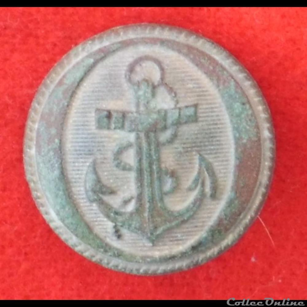 bouton militaire marine troisieme republique officier de marine