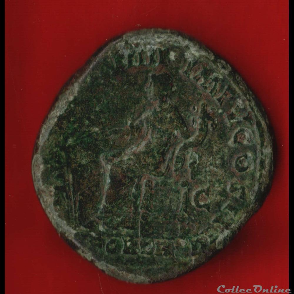 monnaie antique av jc ap romaine marc aurele sesterce fortune