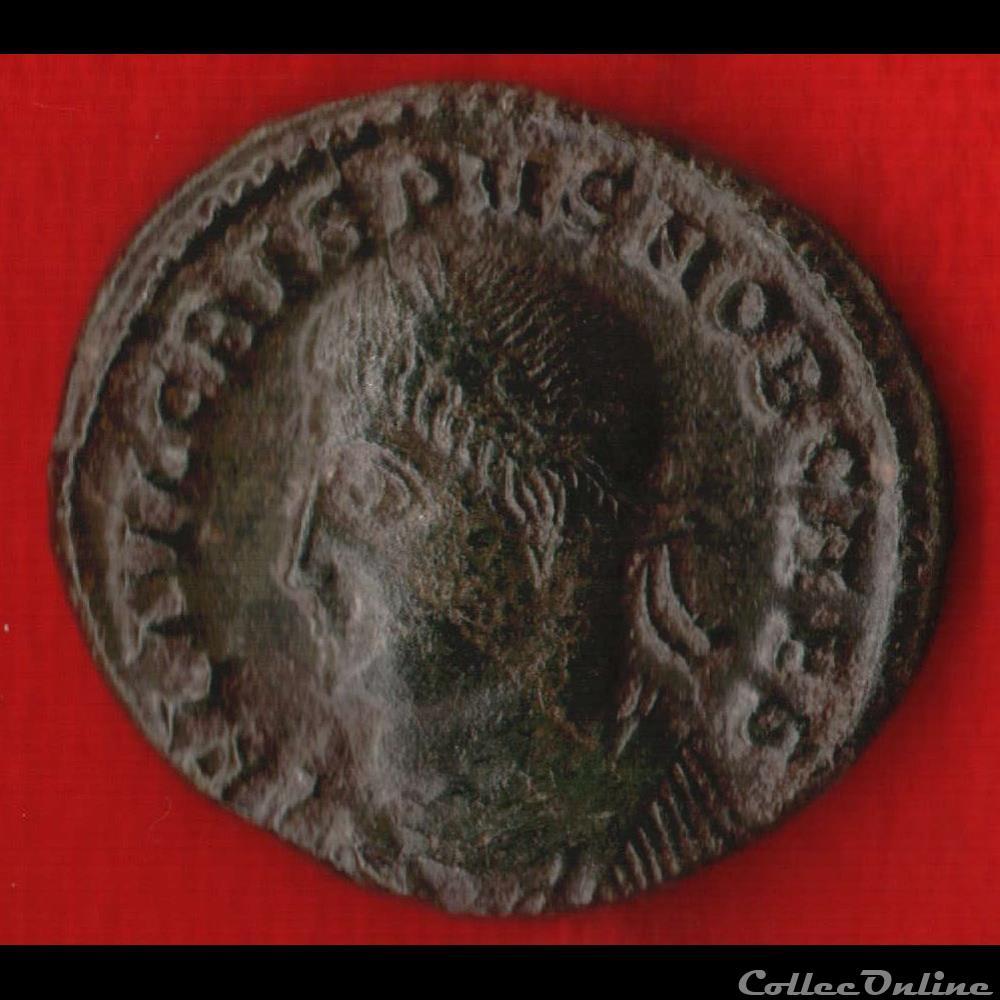 monnaie antique av jc ap romaine crispus nummus ou centenionalis vot 5eme anniversaire