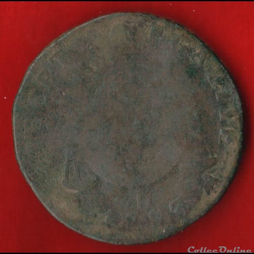 monnaie france moderne la convention 2 sols 1793 rouen