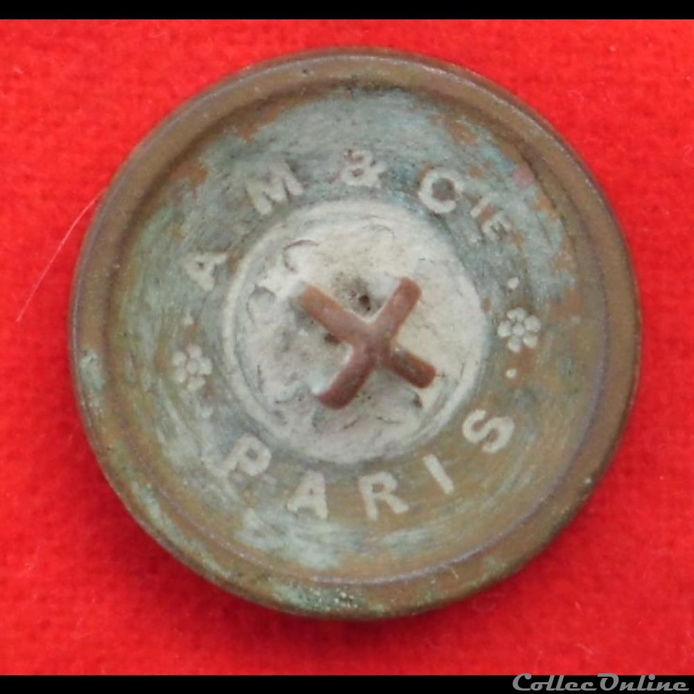 militaire infanterie bouton