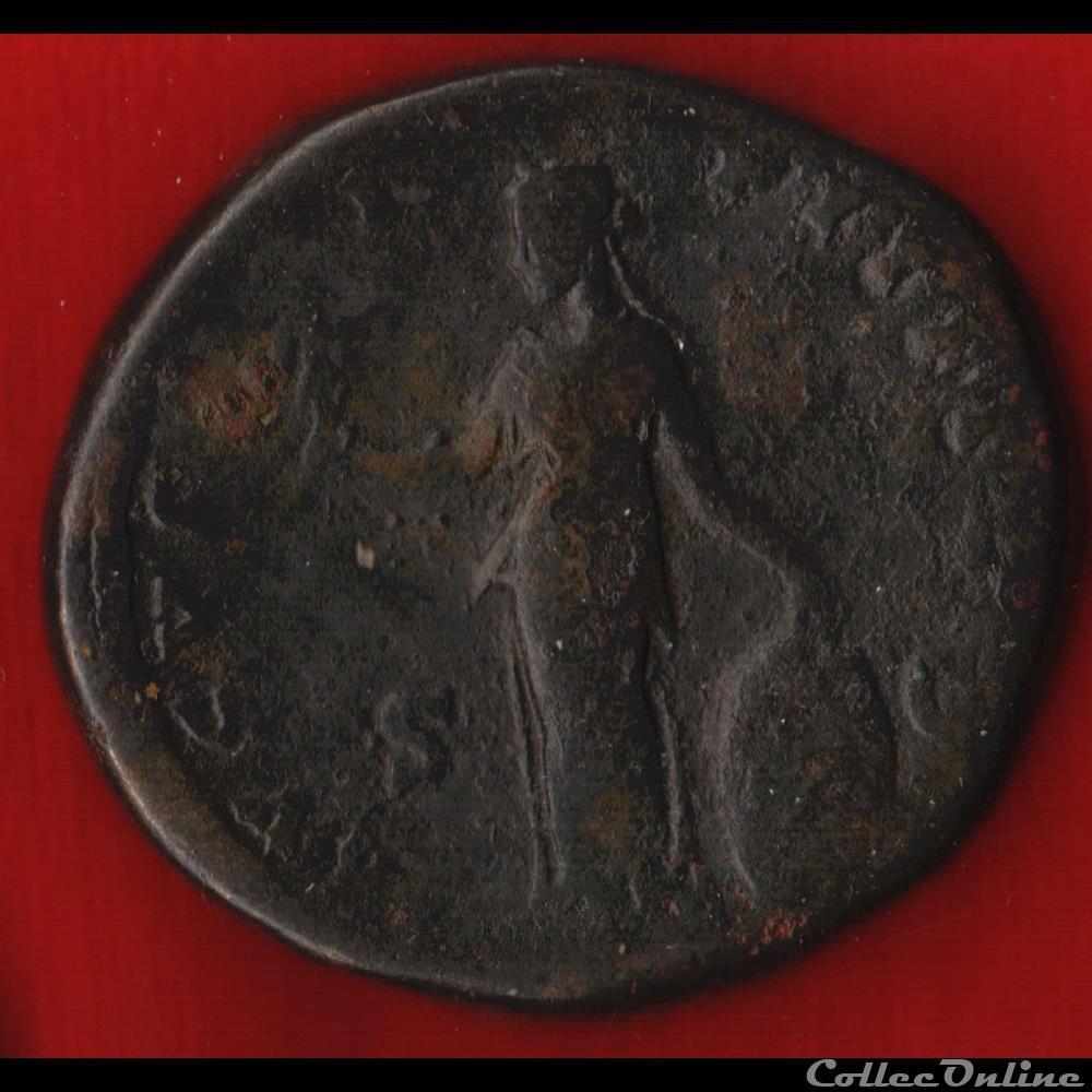 monnaie antique av jc ap romaine faustine sesterce fecondite