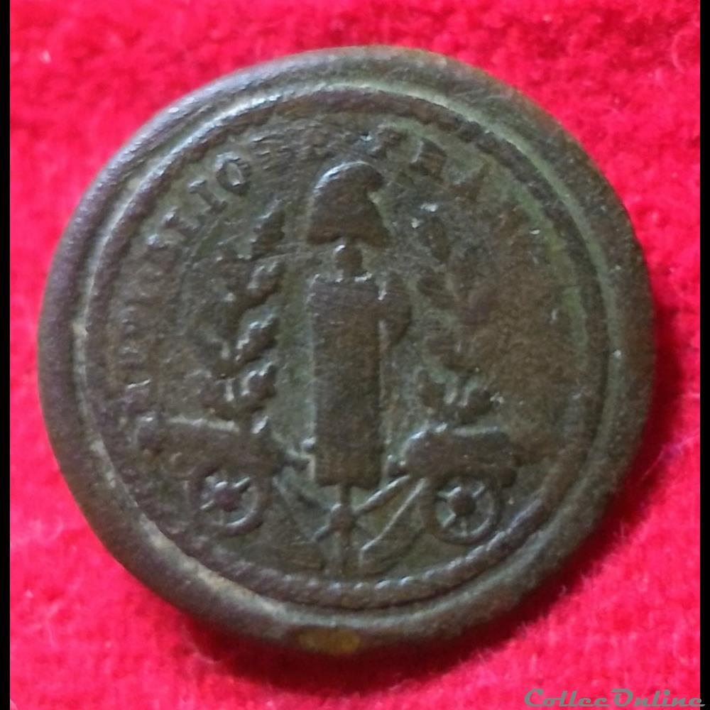 bouton militaire infanterie armee de terre artillerie 1793 1794