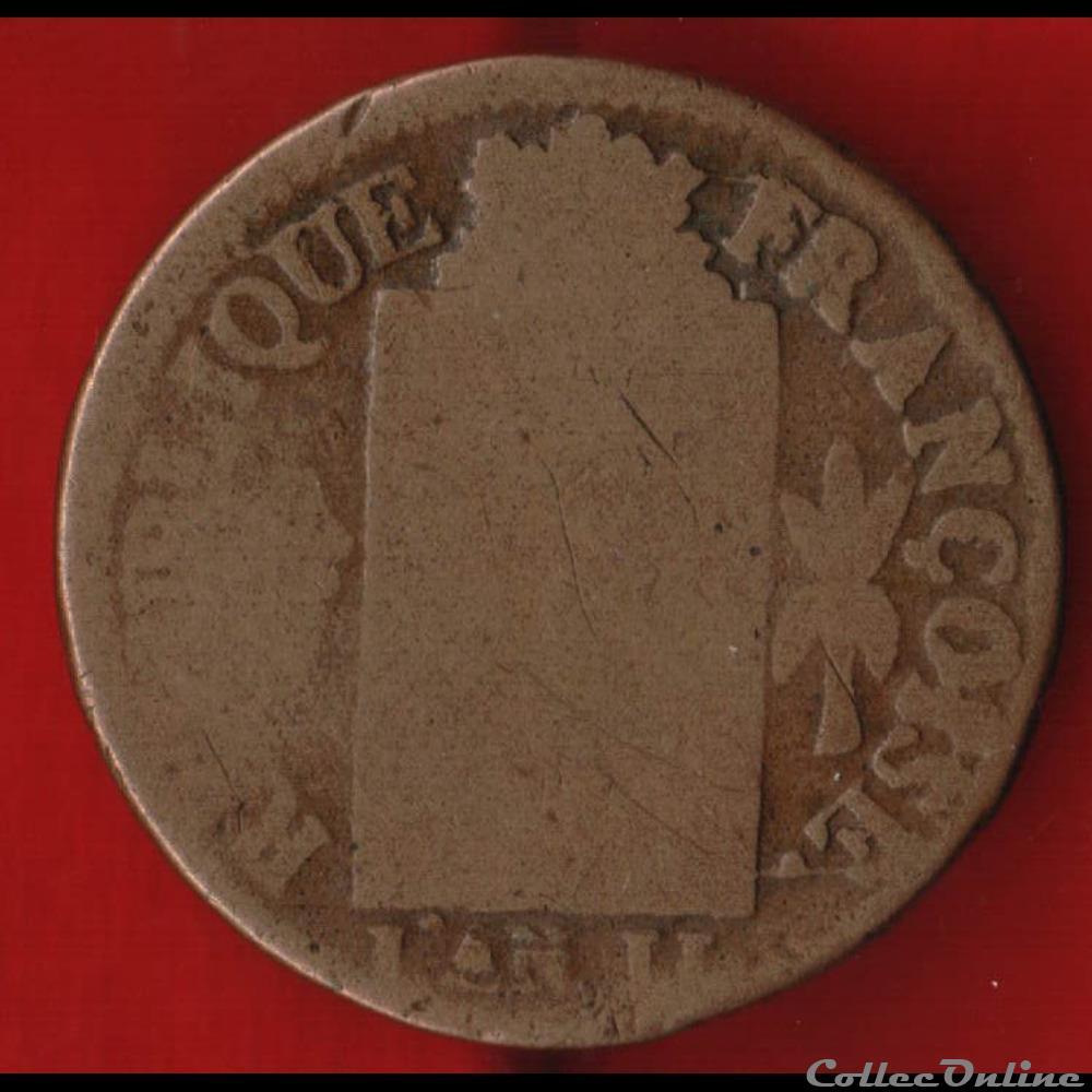monnaie france moderne la convention 1 sol 1793 strasbourg