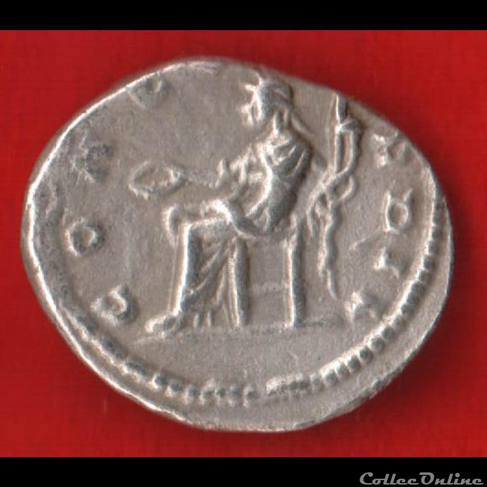 monnaie antique romaine denier de julia domna la concorde