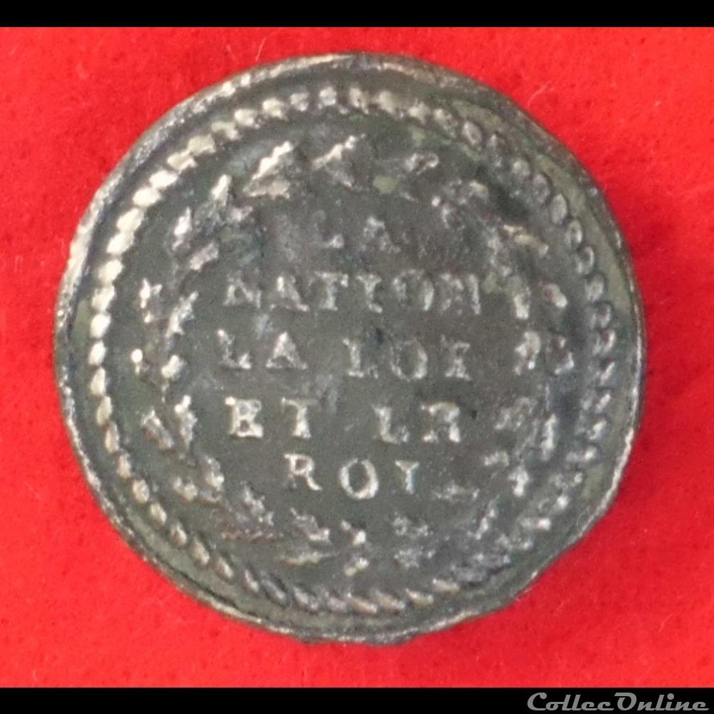 bouton militaire infanterie armee de terre troupes bourgeoises et irregulieres 1789 1790