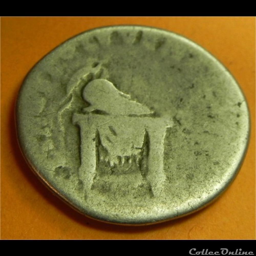 monnaie antique romaine titus domitien cesar denier