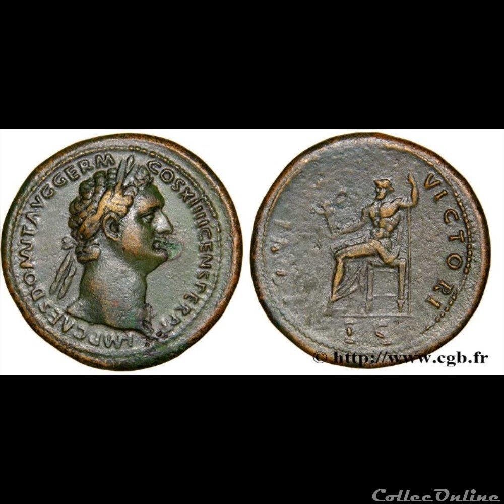monnaie antique romaine domitien sesterse