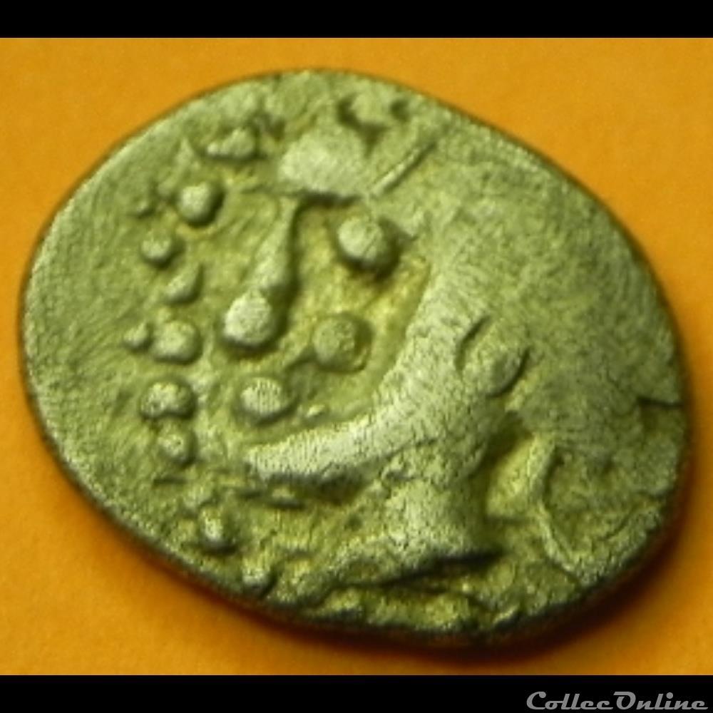 monnaie antique av jc ap gauloise sequanes obole maso tete a gauche