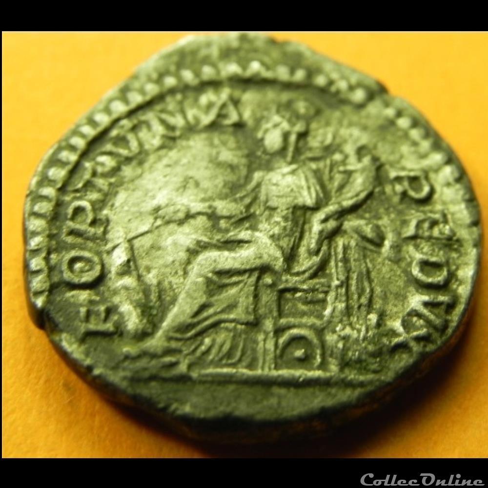 monnaie antique romaine denier septime severe fortuna redvci