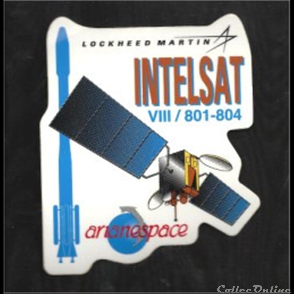 decoration magnet europe autocollant satellite intelsat viii 801 804