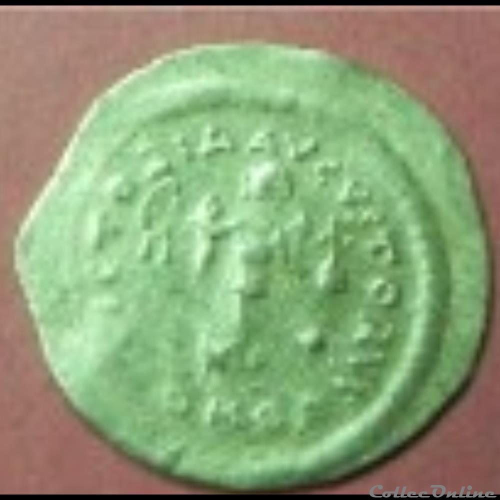 monnaie antique byzantine tremissis de justin ii