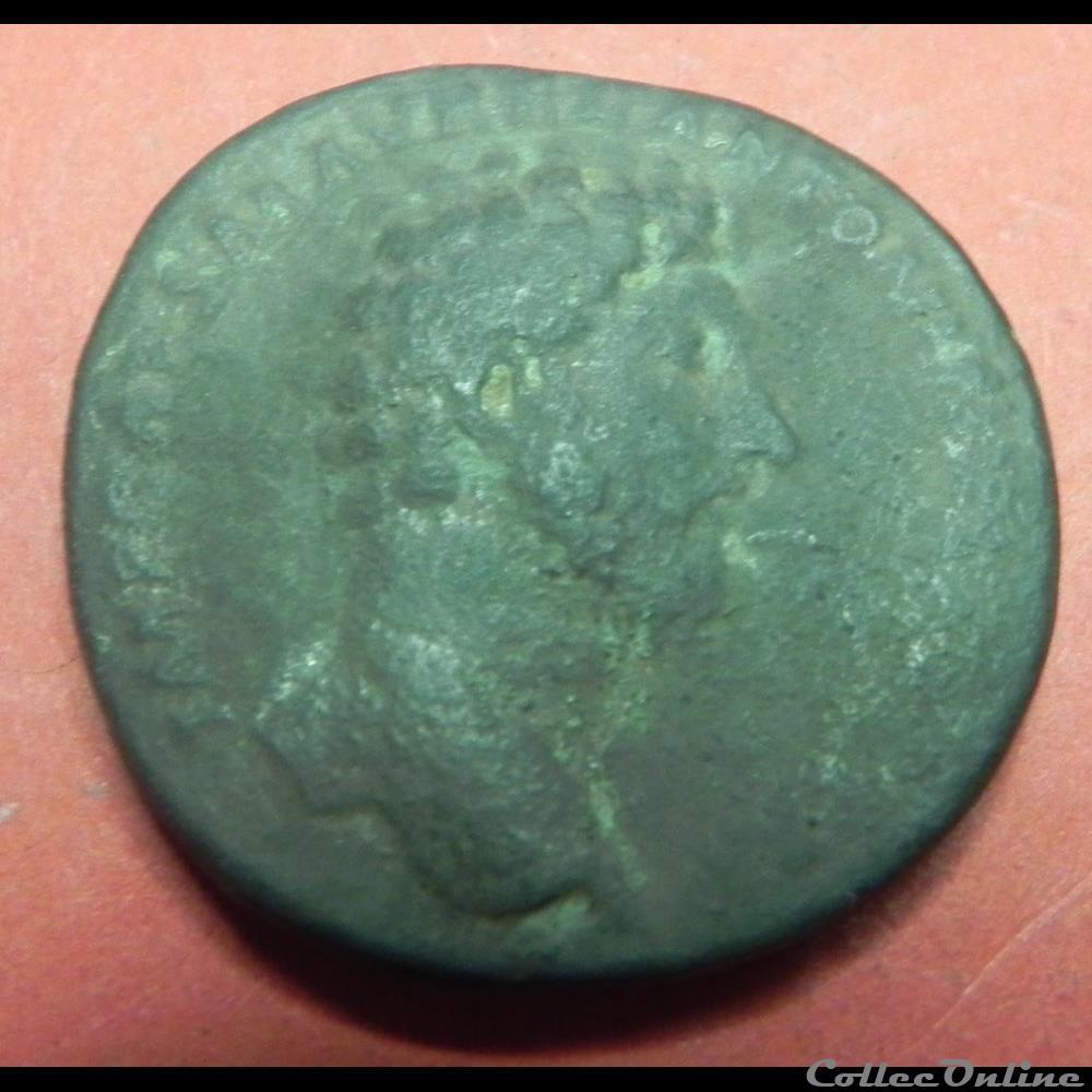 monnaie antique romaine lucius verus sesterce cos iii