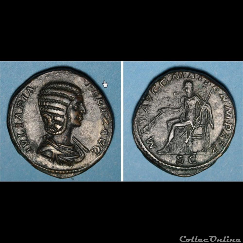 monnaie antique romaine sesterce julia domna
