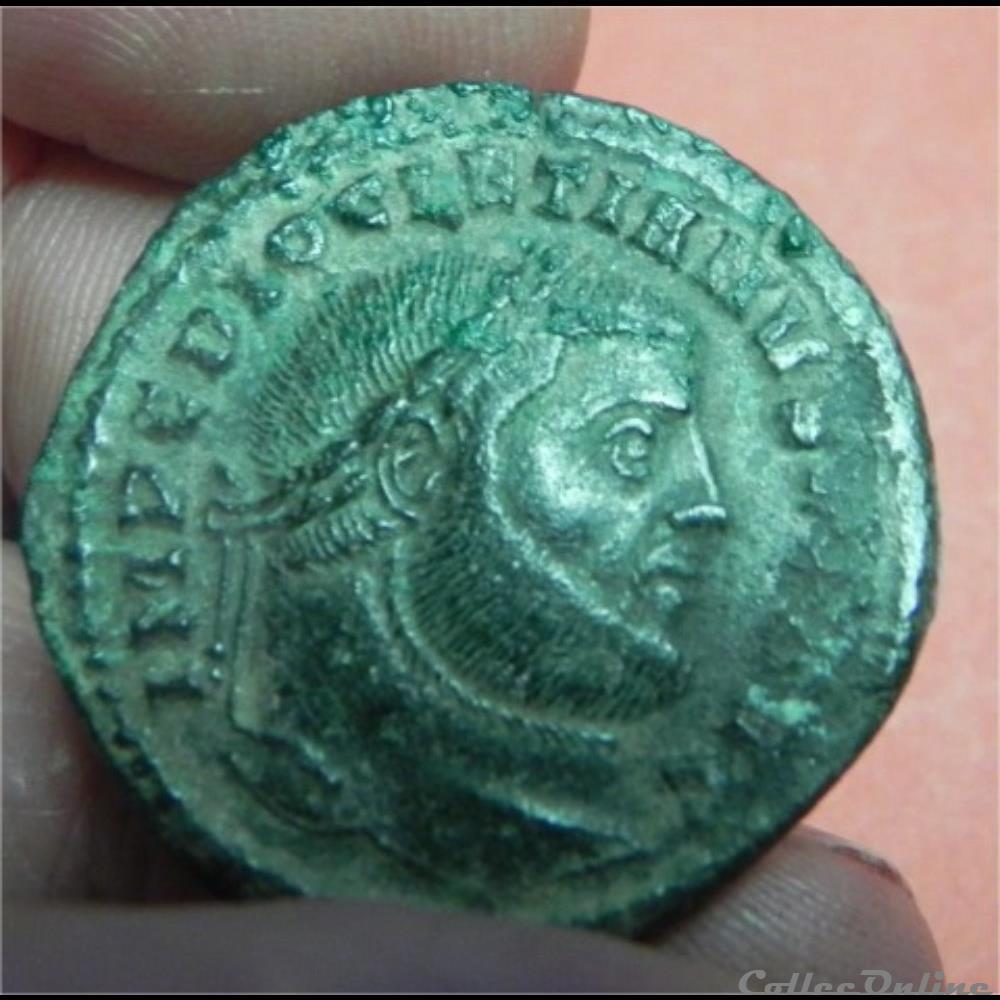 monnaie antique romaine dioclecien follis ric 31a pt pour ticinum nom actuel pavie italie