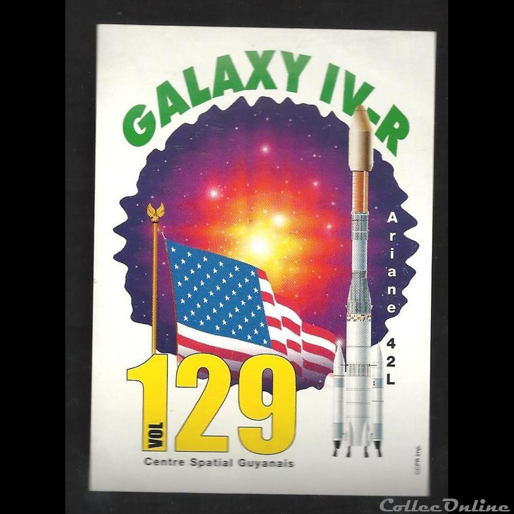 decoration magnet europe autocollant arianespace kourou vol n 129 galaxy iv r