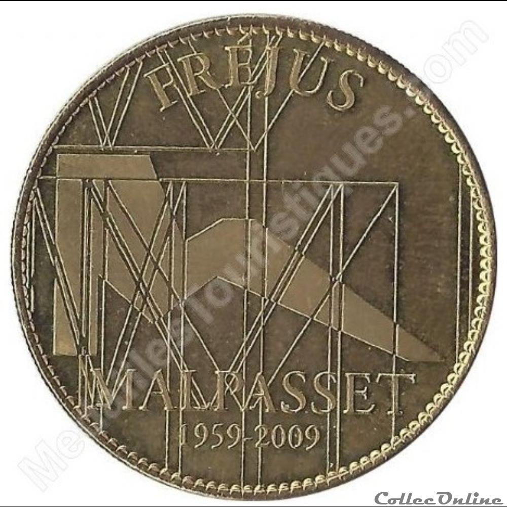 monnaie jeton mereaux france frejus 50eme anniversaire de malpasset 2009