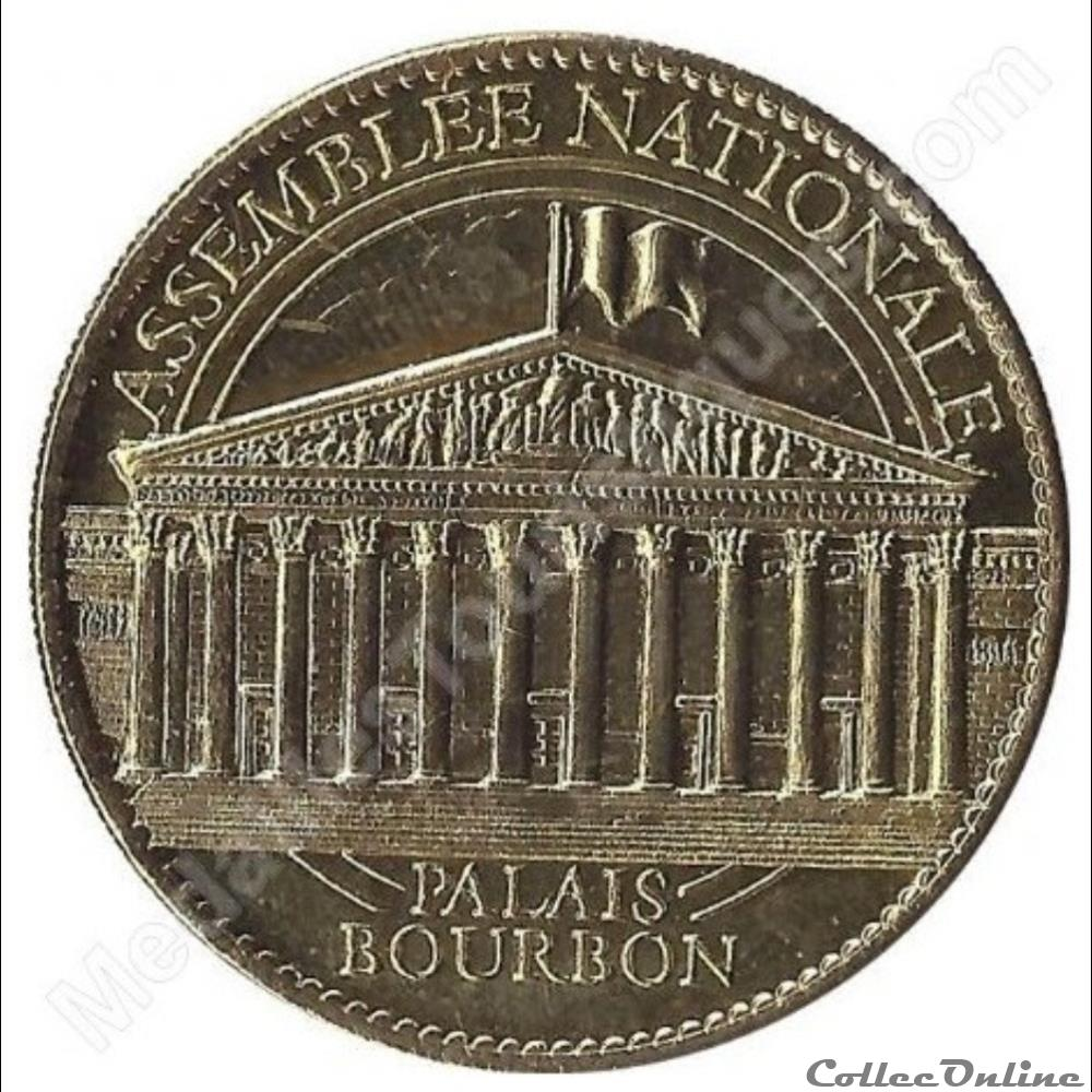 monnaie jeton mereaux france paris assemblee nationale palais bourbon 2010