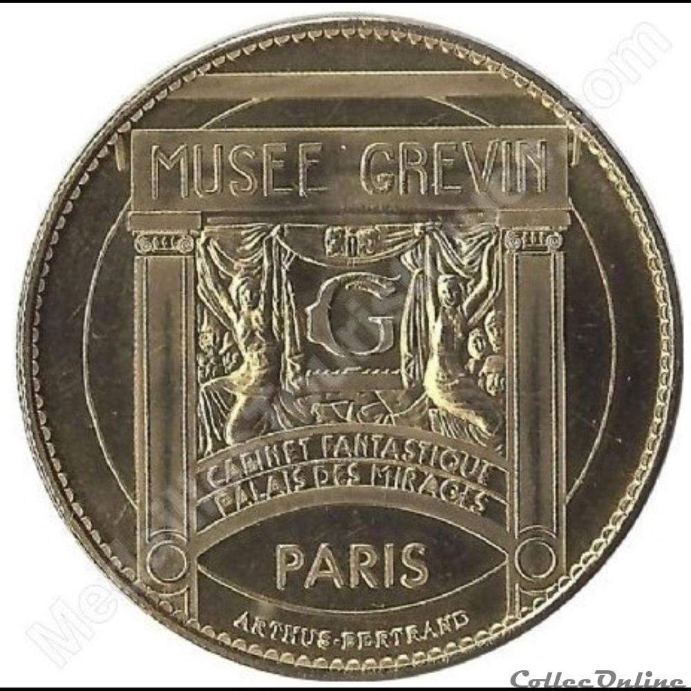 monnaie jeton mereaux france paris musee grevin lorie non datee 2008