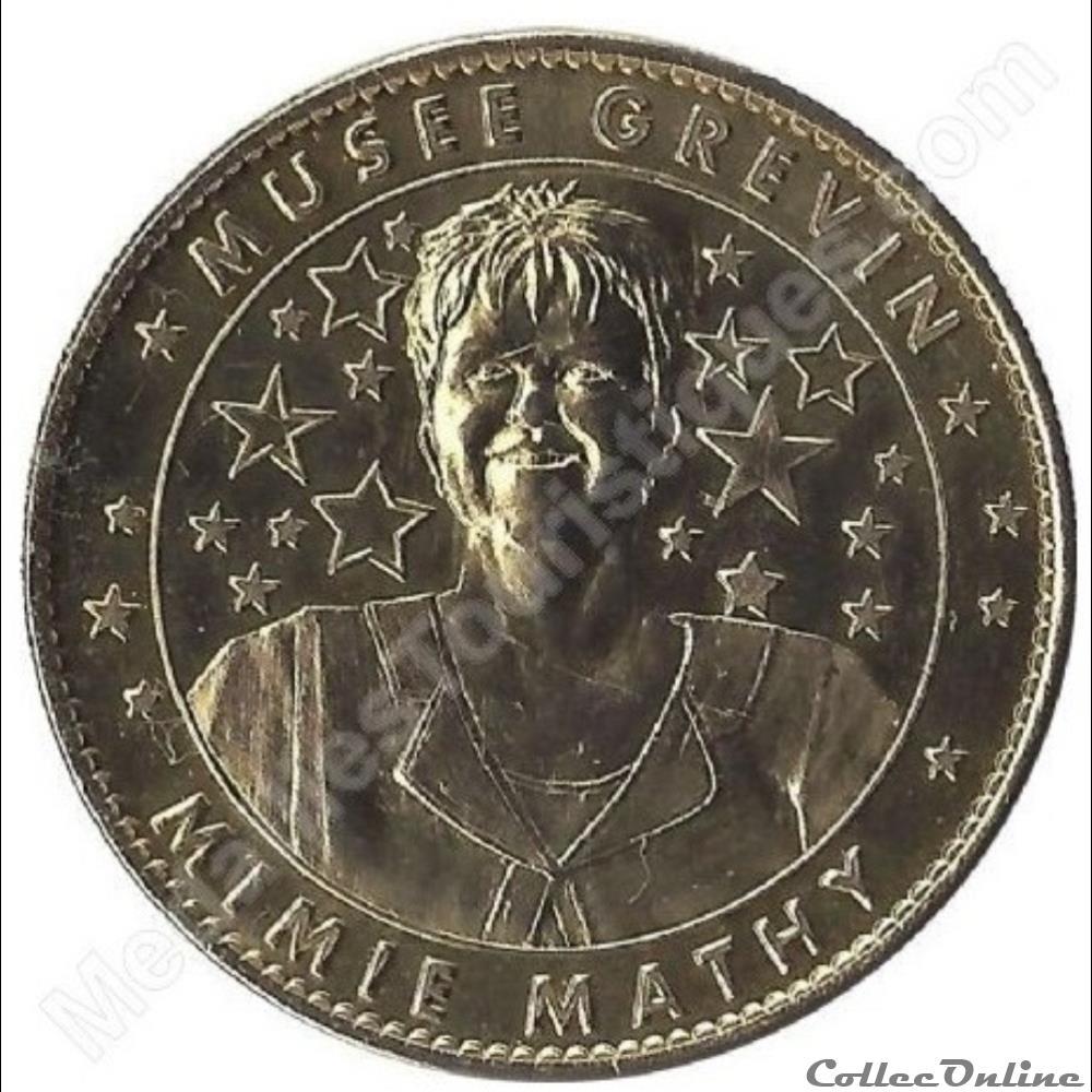 monnaie jeton mereaux france paris musee grevin mimie mathy non datee 2008