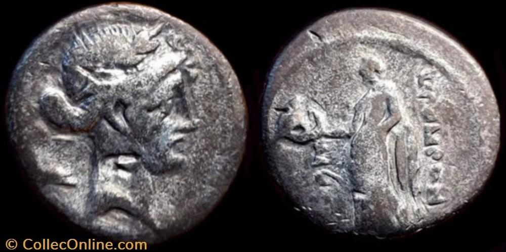 coin ancient b c to roman republicain imperial q pomponius musa ar denarius