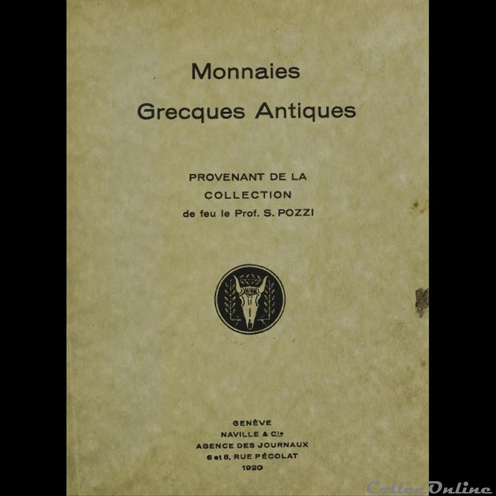 livre bd revue antique liste celebres collections de monnaies grecques