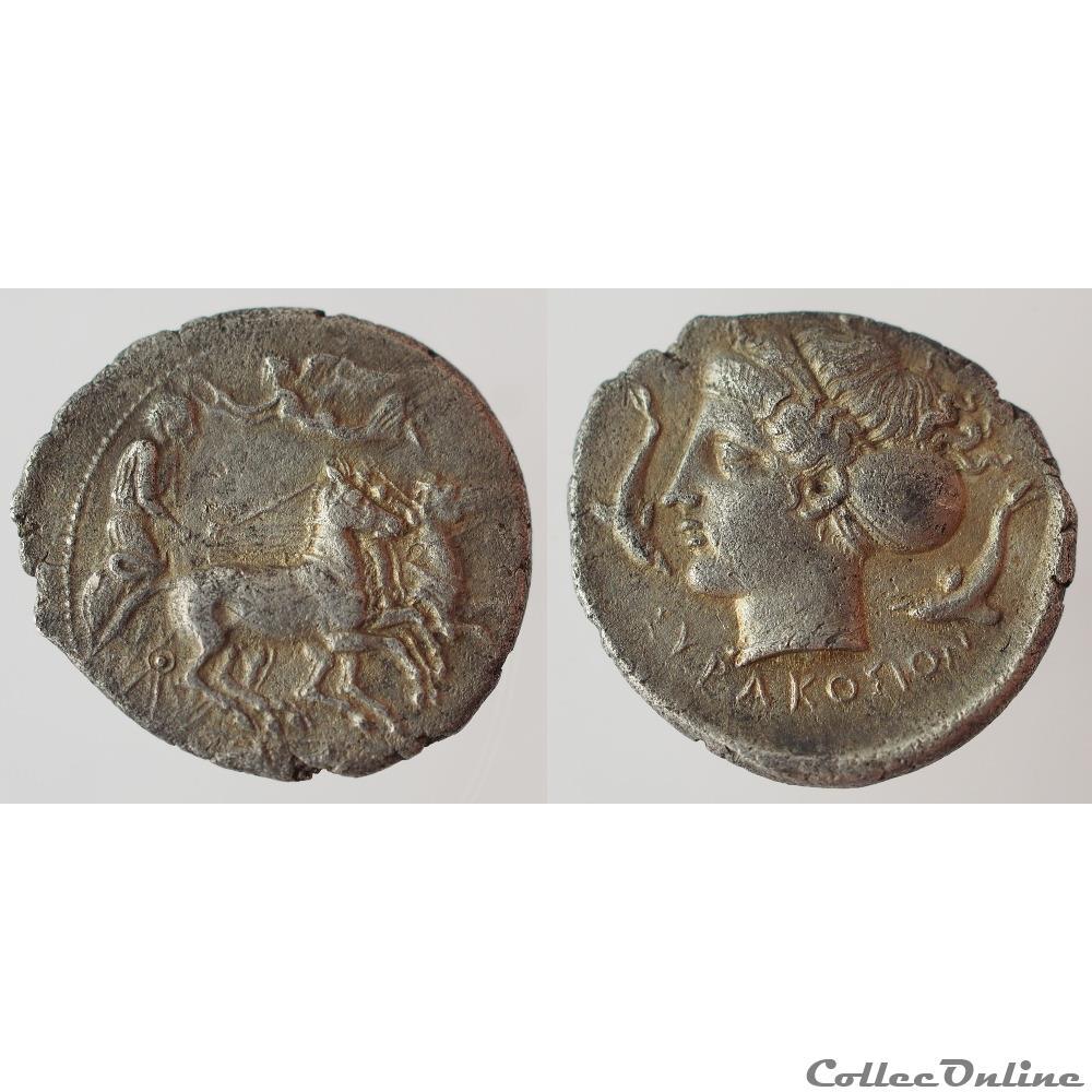 monnaie antique grecque syracuse hemidrachme