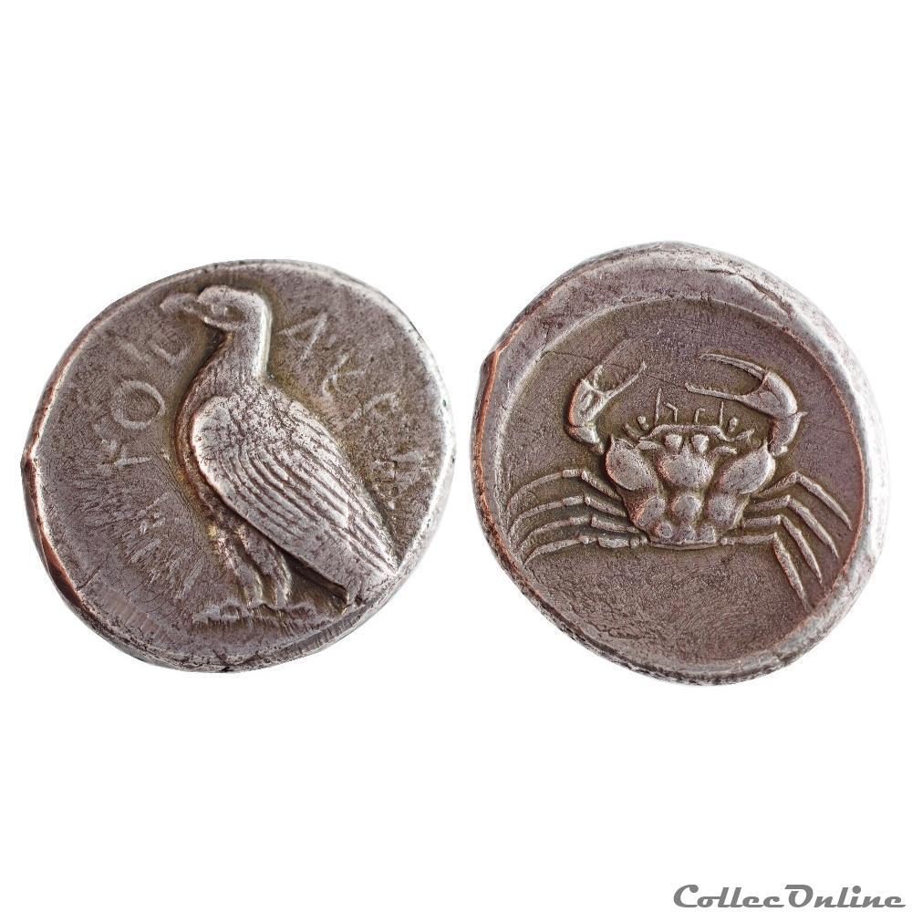 monnaie antique grecque agrigente tetradrachme