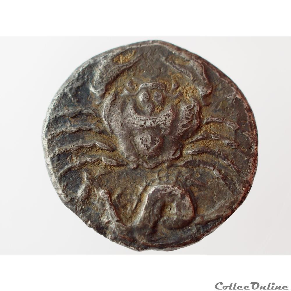 monnaie antique grecque agrigente hemidrachme