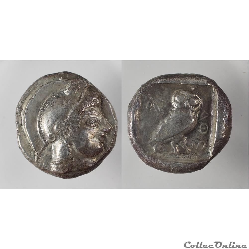 monnaie antique grecque athenes tetradrachme