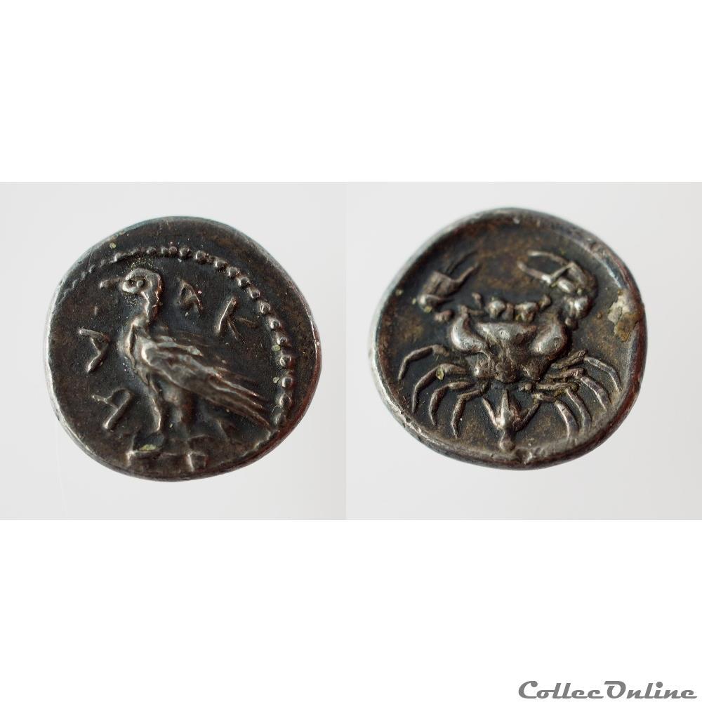 monnaie antique grecque agrigente litra