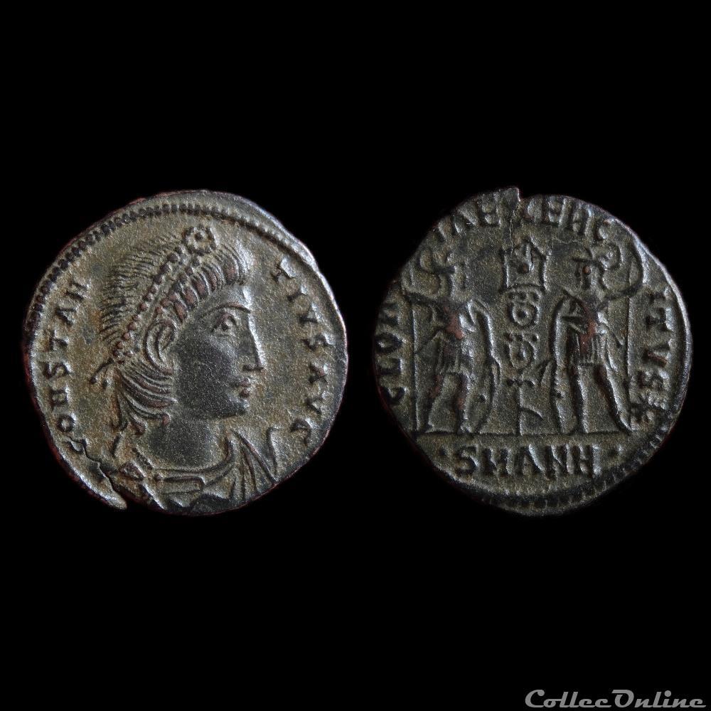 monnaie antique romaine ae4 constantius