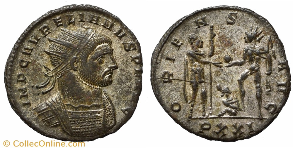 coin ancient b to roman republicain imperial aurelian ric temp 2670
