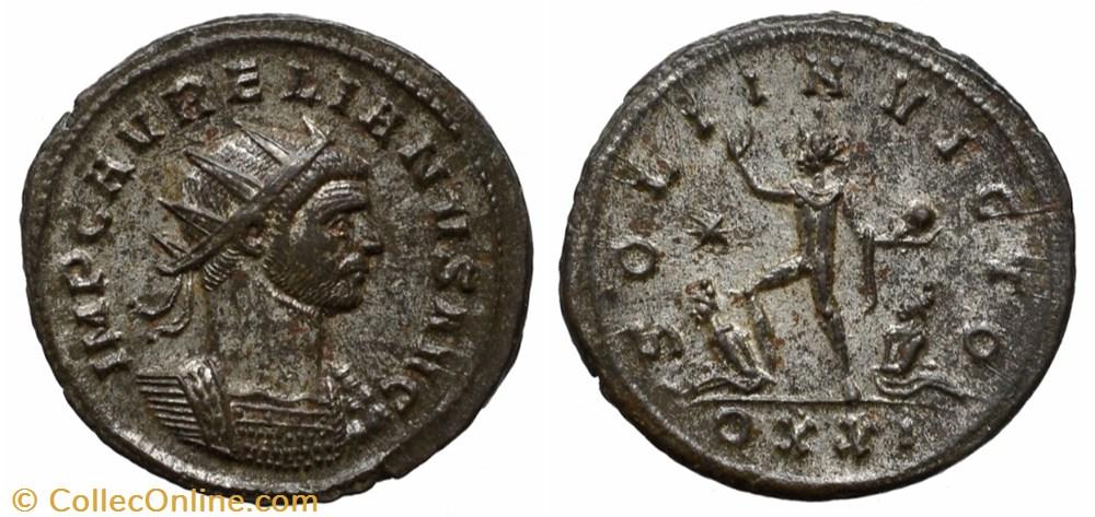 coin ancient b to roman republicain imperial aurelian ric temp 1528