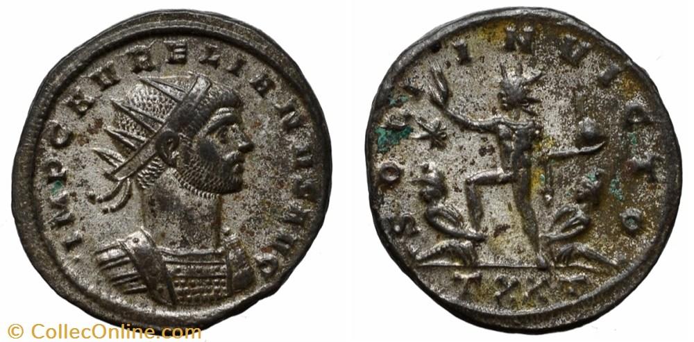coin ancient b to roman republicain imperial aurelian ric temp 1534
